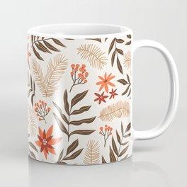 Christmas flowers and branches Coffee Mug