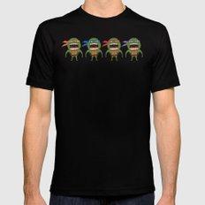 Screaming Turtles Black Mens Fitted Tee MEDIUM