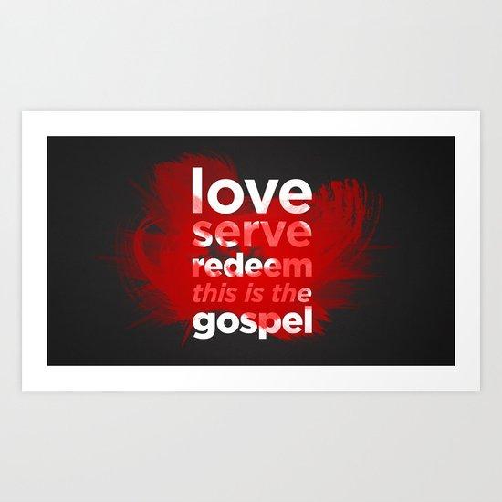 The Gospel Art Print