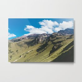 View Hiking up Iztaccihutal Volcano, Mexico City Metal Print