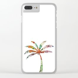 Palm Tree Fabric Clear iPhone Case