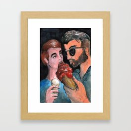 ice cream boyfriends Framed Art Print
