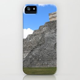 Chichen Itza Temple of Kukulcan south-west View iPhone Case
