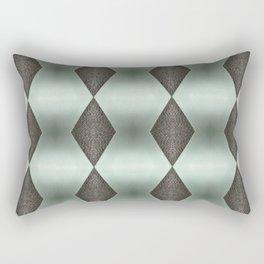Mint Green, Cream & Chocolate Brown No. 5 Rectangular Pillow