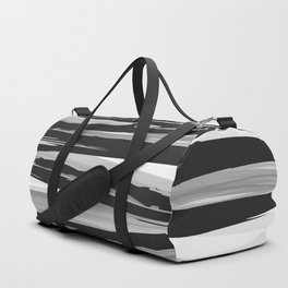 Simple black and white stripes pattern Duffle Bag