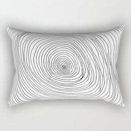 Spiral Rings Rectangular Pillow