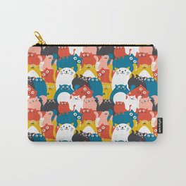 Cats Crowd Pattern Carry-All Pouch