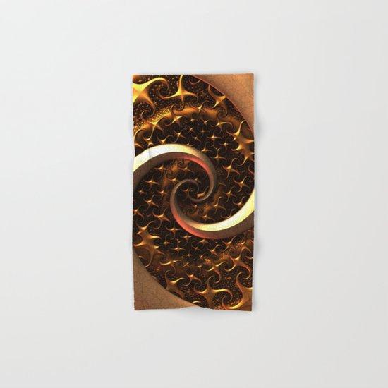 Golden Spirals Hand & Bath Towel
