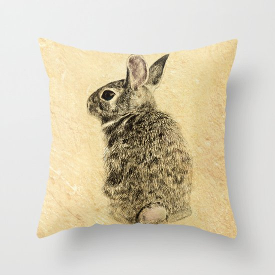 Decorative Pillows With Rabbits : Rabbit Throw Pillow by Anna Shell Society6