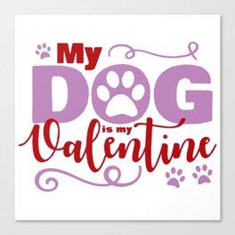 Dog Valentine Canvas Print