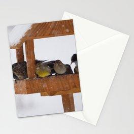 Feeding birds Stationery Cards