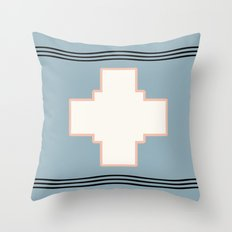 Cross tribal wave Throw Pillow