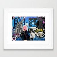 cyberpunk Framed Art Prints featuring Cyberpunk Aesthetics 3 by thomasalbany