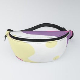 Abstraction. Positive colored waves and dots. Fanny Pack