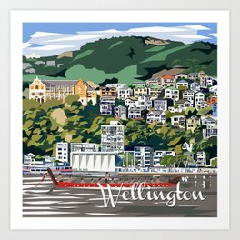 Wellington Harbour, NZ Art Print