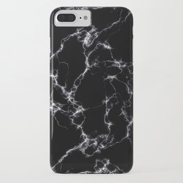Elegant Marble style4 - Black and White iPhone Case
