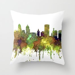 Buffalo, New York Skyline - SG Safari Buff Throw Pillow