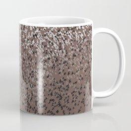 Cloud of birds Brown sky Coffee Mug