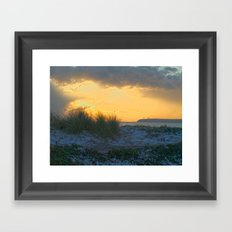 Sand Dunes, Tramore Co. Waterford Framed Art Print