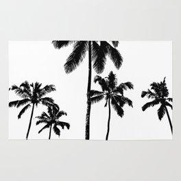 Monochrome tropical palms Rug