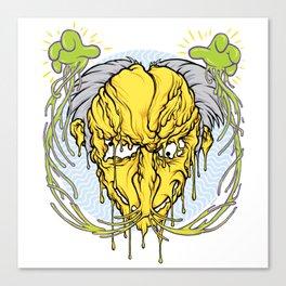 Melting head of Monty Burns Canvas Print