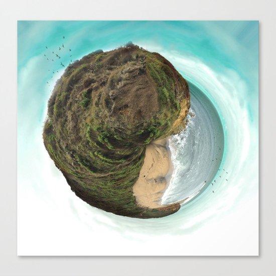 Bells Beach tiny world Canvas Print