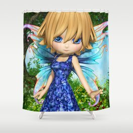Lil Fairy Princess Shower Curtain