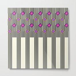 Stripes & Squares Metal Print