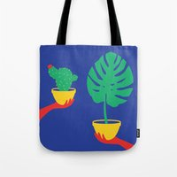 plants Tote Bags featuring Plants by cristina benescu