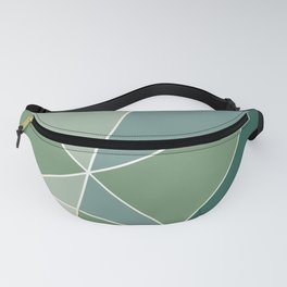 Fragments Muted Greens Gold Fanny Pack