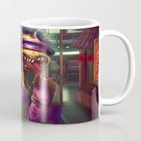 dino Mugs featuring DINO! by deedeepebbles