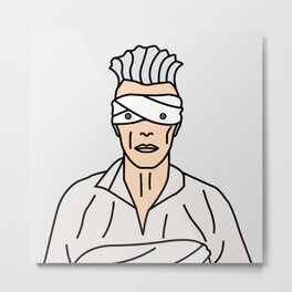 David Bowie – Button Eyes Metal Print