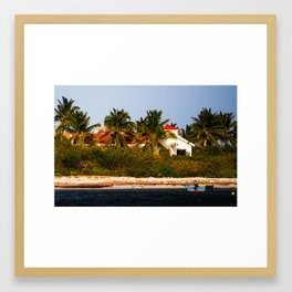On the Shores of Anguilla Framed Art Print
