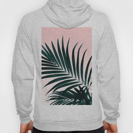 Modern tropical palm tree photography pastel pink ombre gradient Hoody