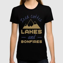 Iced Coffee Lakes And Bonfires T-shirt