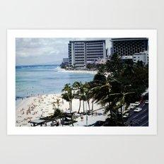 Mom & Dad's Hawaii Trip Slide No.1 Art Print