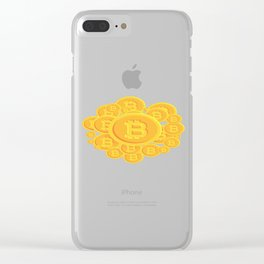 Bitcoins Clear iPhone Case