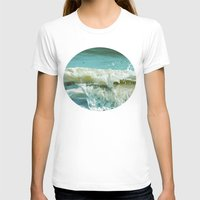 wave T-shirts featuring Wave by Bella Blue Photography