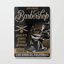 Gentlemen's Barber Shop LA Metal Print