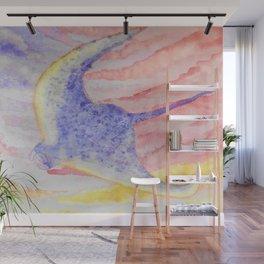 Flying manta ray Wall Mural