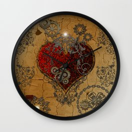 Steampunk, awesome heart  Wall Clock