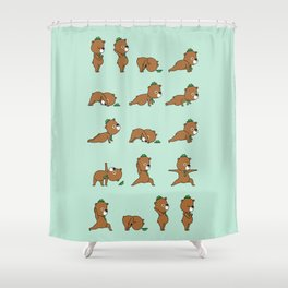 Yoga Bear Shower Curtain