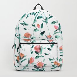 Rose garden impression - watercolor roses Backpack