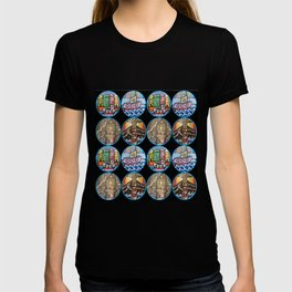 Multi Images of boats and lighthouses T-shirt