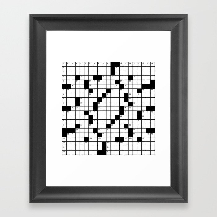 Crossword Puzzle - Write on it!  Gerahmter Kunstdruck