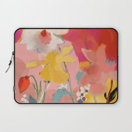 blooming abstract pink Laptop Sleeve