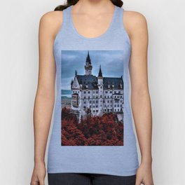 The Castle of Mad King Ludwig in the Autumn, Neuschwanstein Castle, Bavaria, Germany Unisex Tank Top