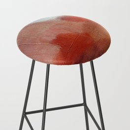 Desert Journey [2]: a textured, abstract piece in pinks, reds, and white by Alyssa Hamilton Art Bar Stool