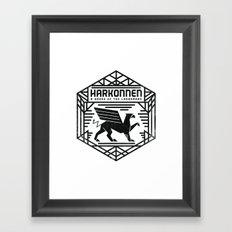 HOUSE HARKONNEN CREST Framed Art Print