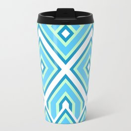 Geometric Continuous Line Pattern Travel Mug